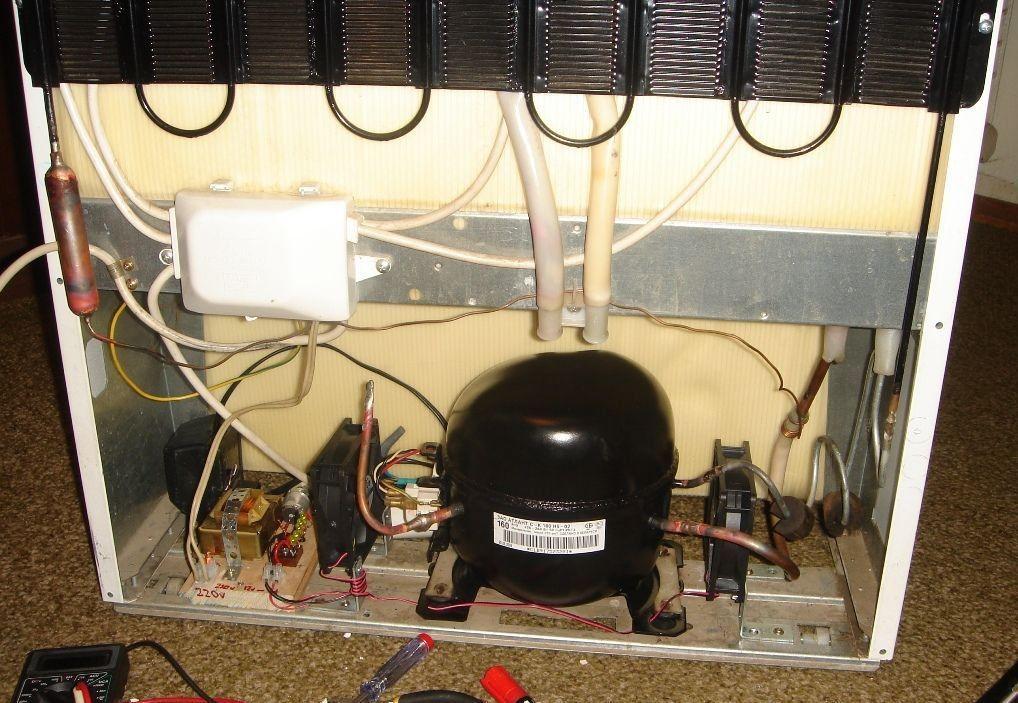 Замена мотора компрессора холодильника своими руками 12